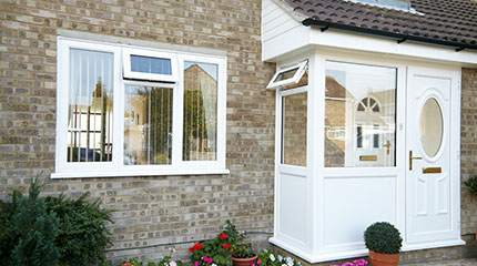 A completed Anglian porch installation